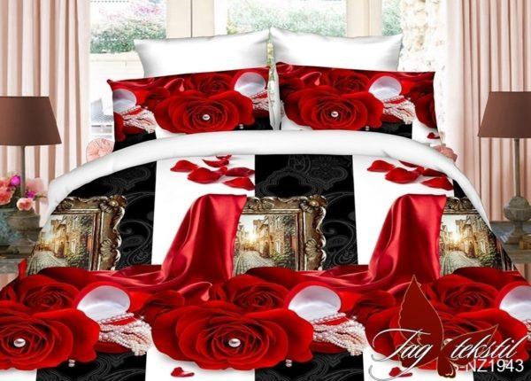 Комплект постельного белья PS-NZ1943  ПОСТЕЛЬНОЕ БЕЛЬЕ ТМ TAG > Семейные > Полисатин 3D