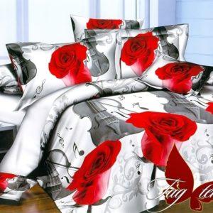 Комплект постельного белья PS-NZ2188  ПОСТЕЛЬНОЕ БЕЛЬЕ ТМ TAG > 2-спальные > Полисатин 3D