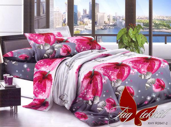 Комплект постельного белья PS-NZ2847  ПОСТЕЛЬНОЕ БЕЛЬЕ ТМ TAG > 2-спальные > Полисатин 3D