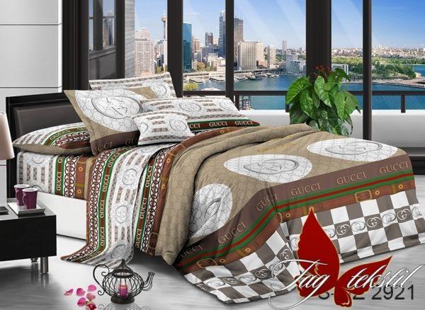 Комплект постельного белья PS-NZ2921  ПОСТЕЛЬНОЕ БЕЛЬЕ ТМ TAG > Евро > Полисатин 3D