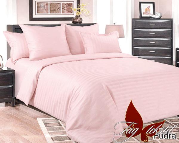 Комплект постельного белья Pudra  ПОСТЕЛЬНОЕ БЕЛЬЕ ТМ TAG > 1.5-спальные > Страйп-сатин
