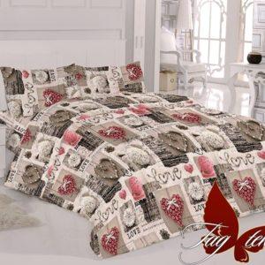 Комплект постельного белья R015  ПОСТЕЛЬНОЕ БЕЛЬЕ ТМ TAG > 2-спальные > Ренфорс