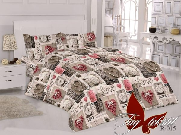 Комплект постельного белья R015  ПОСТЕЛЬНОЕ БЕЛЬЕ ТМ TAG > Семейные > Ренфорс