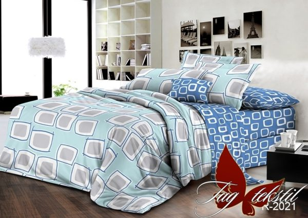 Комплект постельного белья с компаньоном R2021  ПОСТЕЛЬНОЕ БЕЛЬЕ ТМ TAG > 2-спальные > Ренфорс