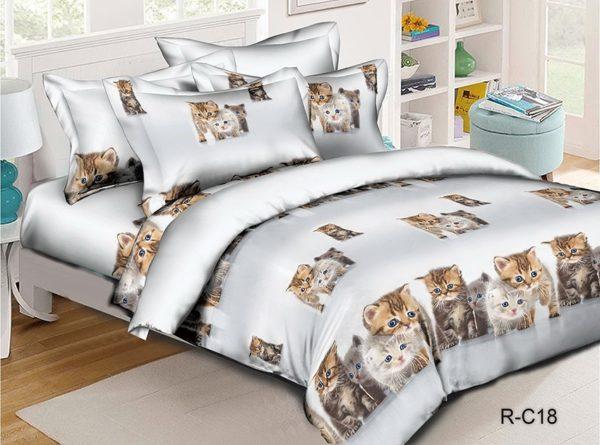 Комплект постельного белья R-C18  ПОСТЕЛЬНОЕ БЕЛЬЕ И ТОВАРЫ ДЛЯ ДЕТЕЙ > 1.5-спальные 160х220