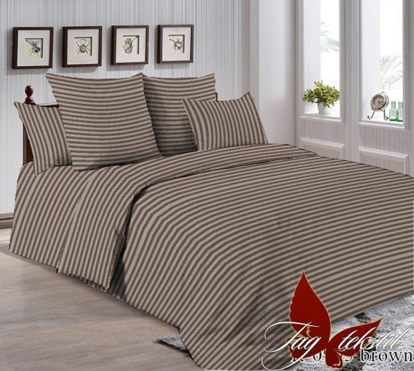 Комплект постельного белья R0905brown  ПОСТЕЛЬНОЕ БЕЛЬЕ ТМ TAG > 2-спальные > Ренфорс
