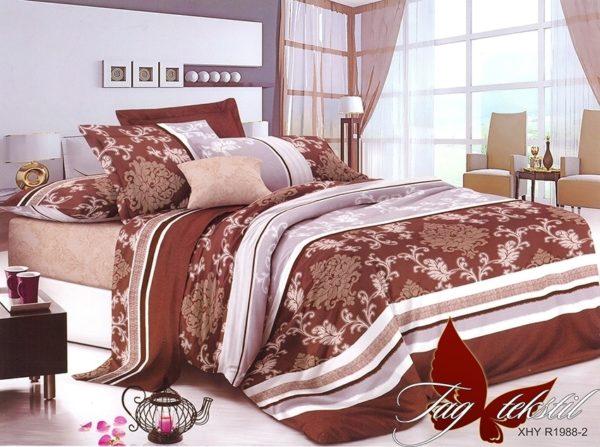 Комплект постельного белья R1988  ПОСТЕЛЬНОЕ БЕЛЬЕ ТМ TAG > 2-спальные > Ренфорс