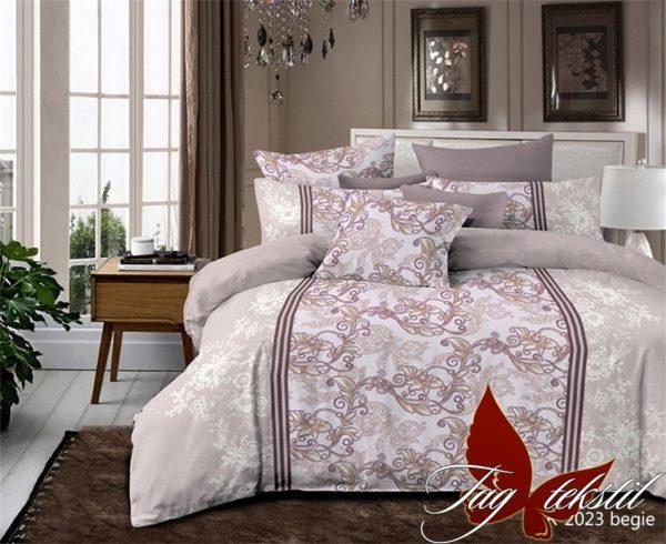 Комплект постельного белья R2023begie  ПОСТЕЛЬНОЕ БЕЛЬЕ ТМ TAG > 2-спальные > Ренфорс