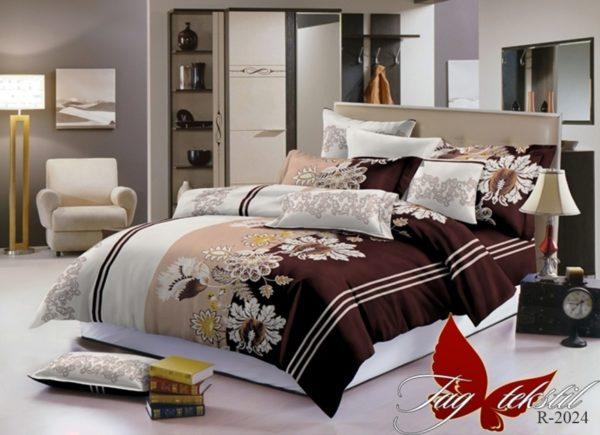 Комплект постельного белья R2024  ПОСТЕЛЬНОЕ БЕЛЬЕ ТМ TAG > 1.5-спальные > Ренфорс