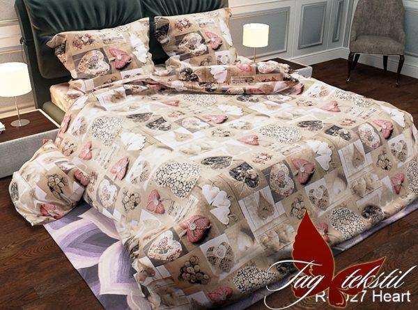 Комплект постельного белья R2027 Heart  ПОСТЕЛЬНОЕ БЕЛЬЕ ТМ TAG > 2-спальные > Ренфорс