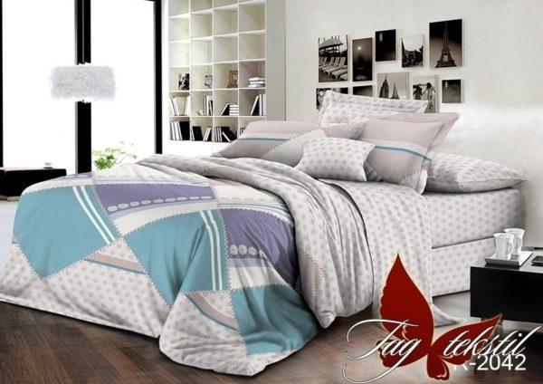 Комплект постельного белья R2042  ПОСТЕЛЬНОЕ БЕЛЬЕ ТМ TAG > 2-спальные > Ренфорс