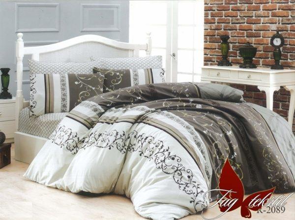 Комплект постельного белья R2089  ПОСТЕЛЬНОЕ БЕЛЬЕ ТМ TAG > 2-спальные > Ренфорс