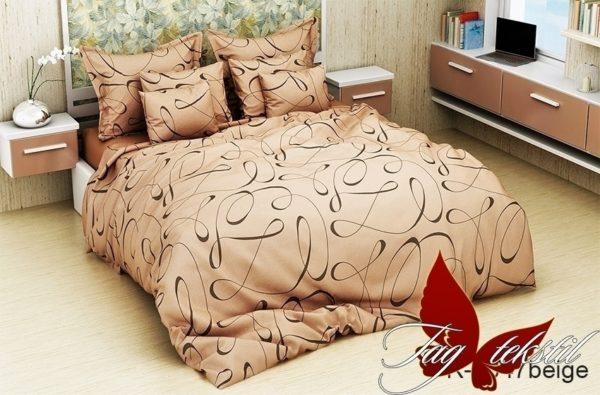 Комплект постельного белья R4047beige  ПОСТЕЛЬНОЕ БЕЛЬЕ ТМ TAG > 2-спальные > Ренфорс