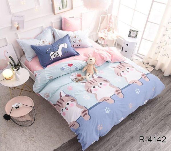 Комплект постельного белья с компаньоном R4142  ПОСТЕЛЬНОЕ БЕЛЬЕ ТМ TAG > 2-спальные > Ренфорс