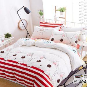 Комплект постельного белья с компаньоном R4144  ПОСТЕЛЬНОЕ БЕЛЬЕ ТМ TAG > 2-спальные > Ренфорс