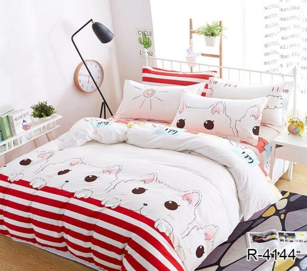 Комплект постельного белья с компаньоном R4144  ПОСТЕЛЬНОЕ БЕЛЬЕ ТМ TAG > Евро > Ренфорс