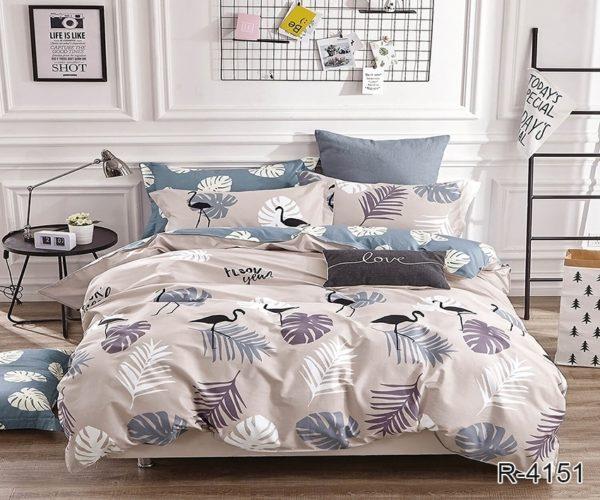 Комплект постельного белья с компаньоном R4151  ПОСТЕЛЬНОЕ БЕЛЬЕ ТМ TAG > 2-спальные > Ренфорс