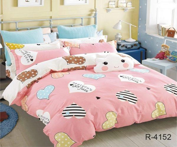 Комплект постельного белья с компаньоном R4152  ПОСТЕЛЬНОЕ БЕЛЬЕ ТМ TAG > 2-спальные > Ренфорс