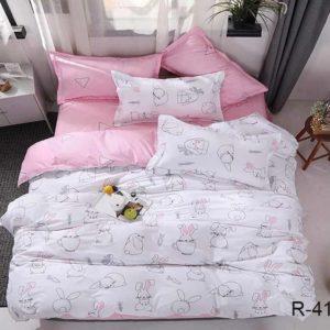 Комплект постельного белья с компаньоном R4163  ПОСТЕЛЬНОЕ БЕЛЬЕ ТМ TAG > 2-спальные > Ренфорс