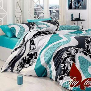 Комплект постельного белья R6958 blue  ПОСТЕЛЬНОЕ БЕЛЬЕ ТМ TAG > 2-спальные > Ренфорс