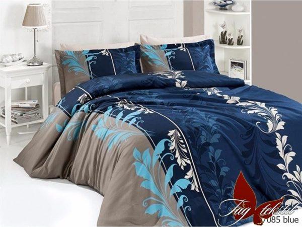 Комплект постельного белья R7085 blue  ПОСТЕЛЬНОЕ БЕЛЬЕ ТМ TAG > Семейные > Ренфорс