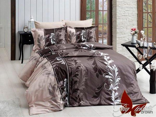 Комплект постельного белья R7085 brown  ПОСТЕЛЬНОЕ БЕЛЬЕ ТМ TAG > 2-спальные > Ренфорс