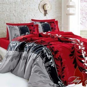 Комплект постельного белья R7085 red  ПОСТЕЛЬНОЕ БЕЛЬЕ ТМ TAG > 2-спальные > Ренфорс