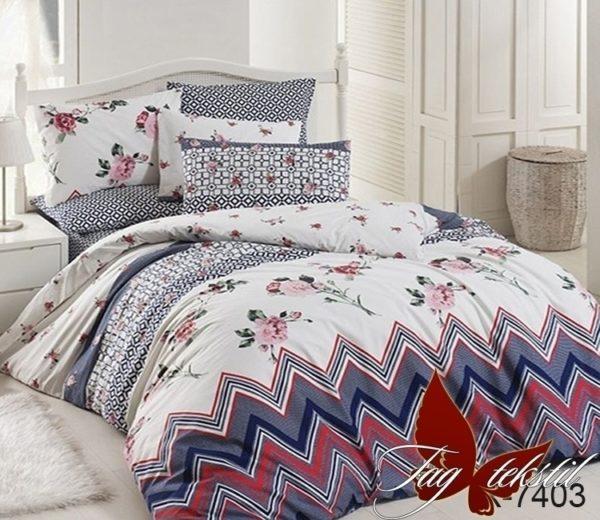 Комплект постельного белья с компаньоном R7403  ПОСТЕЛЬНОЕ БЕЛЬЕ ТМ TAG > 2-спальные > Ренфорс