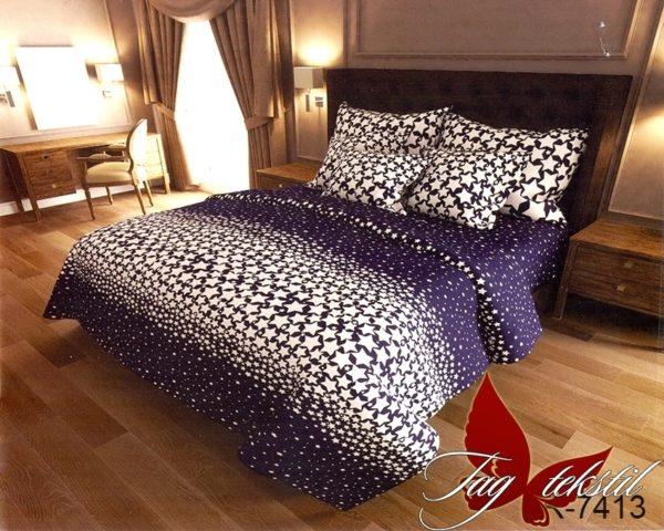 Комплект постельного белья с компаньоном R7413  ПОСТЕЛЬНОЕ БЕЛЬЕ ТМ TAG > Семейные > Ренфорс