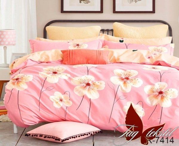 Комплект постельного белья с компаньоном R7414  ПОСТЕЛЬНОЕ БЕЛЬЕ ТМ TAG > Семейные > Ренфорс