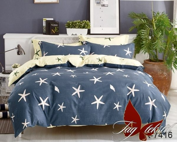 Комплект постельного белья с компаньоном R7416  ПОСТЕЛЬНОЕ БЕЛЬЕ ТМ TAG > Евро > Ренфорс