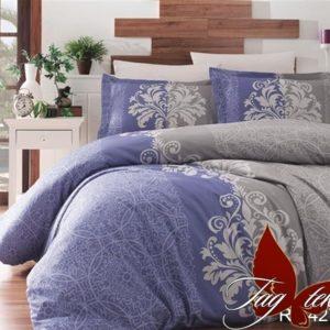Комплект постельного белья R7427 blue  ПОСТЕЛЬНОЕ БЕЛЬЕ ТМ TAG > Евро > Ренфорс