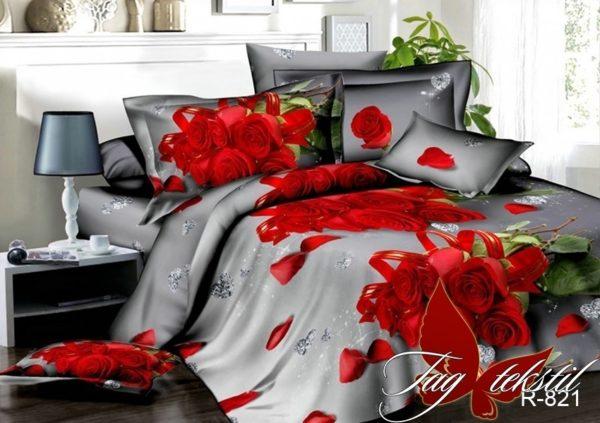 Комплект постельного белья R821  ПОСТЕЛЬНОЕ БЕЛЬЕ ТМ TAG > 1.5-спальные > Ренфорс