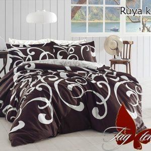 Комплект постельного белья с компаньоном Ruya kahve  ПОСТЕЛЬНОЕ БЕЛЬЕ ТМ TAG > 2-спальные > Ренфорс