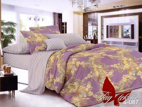 Комплект постельного белья S-087  ПОСТЕЛЬНОЕ БЕЛЬЕ ТМ TAG > 1.5-спальные > Сатин люкс ТМ TAG