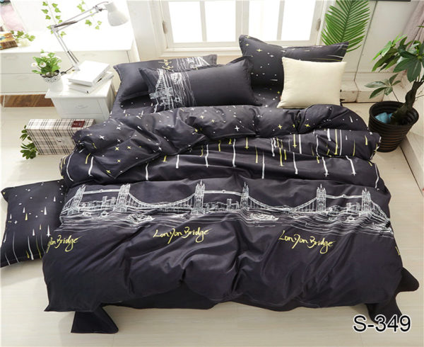 Комплект постельного белья с компаньоном S349  ПОСТЕЛЬНОЕ БЕЛЬЕ ТМ TAG > 1.5-спальные > Сатин люкс ТМ TAG