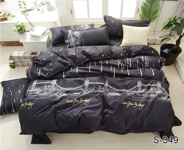 Комплект постельного белья с компаньоном S349  ПОСТЕЛЬНОЕ БЕЛЬЕ ТМ TAG > Семейные > Сатин люкс ТМ TAG