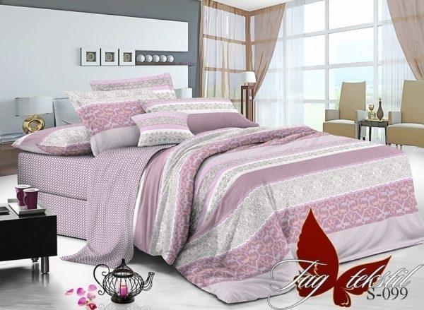 Комплект постельного белья с компаньоном S-099  ПОСТЕЛЬНОЕ БЕЛЬЕ ТМ TAG > 1.5-спальные > Сатин люкс ТМ TAG