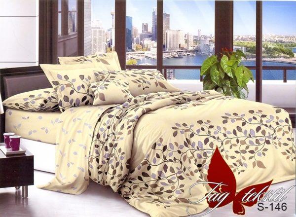 Комплект постельного белья с компаньоном S-146  ПОСТЕЛЬНОЕ БЕЛЬЕ ТМ TAG > Семейные > Сатин люкс ТМ TAG