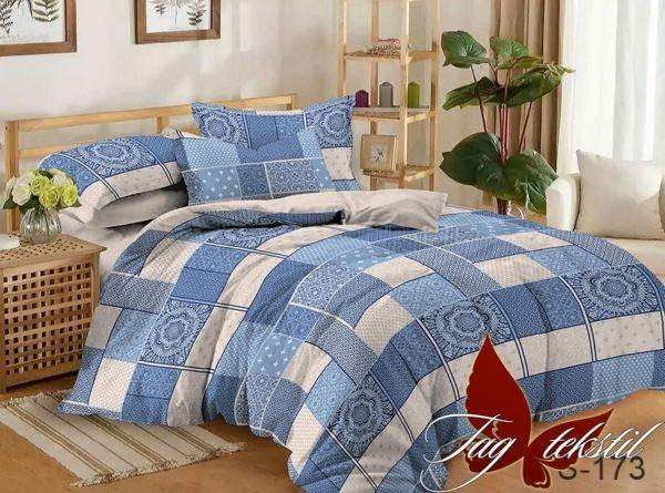 Комплект постельного белья с компаньоном S173  ПОСТЕЛЬНОЕ БЕЛЬЕ ТМ TAG > Евро > Сатин люкс ТМ TAG