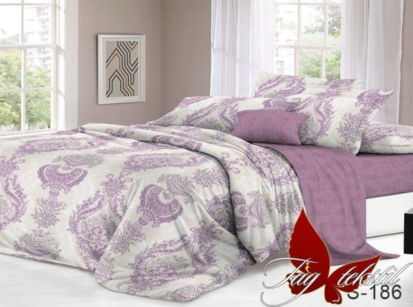 Комплект постельного белья с компаньоном S186  ПОСТЕЛЬНОЕ БЕЛЬЕ ТМ TAG > 1.5-спальные > Сатин люкс ТМ TAG