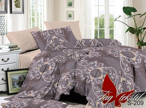 Комплект постельного белья с компаньоном S209  ПОСТЕЛЬНОЕ БЕЛЬЕ ТМ TAG > 2-спальные > Сатин люкс ТМ TAG