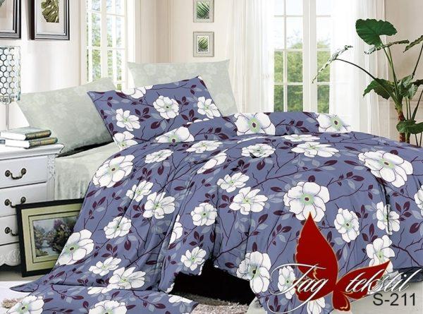 Комплект постельного белья с компаньоном S211  ПОСТЕЛЬНОЕ БЕЛЬЕ ТМ TAG > 1.5-спальные > Сатин люкс ТМ TAG