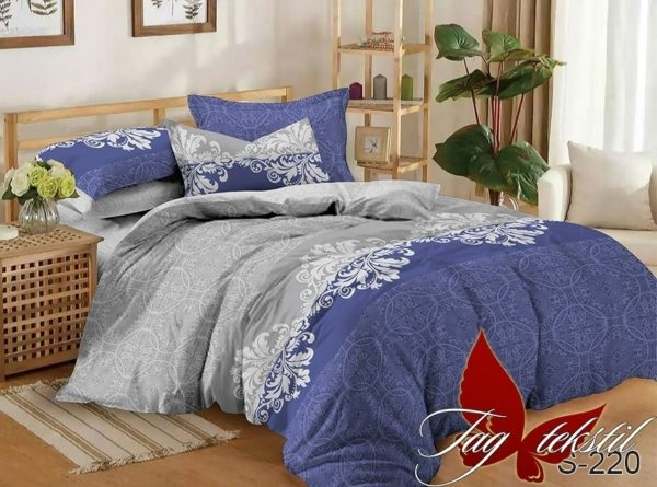 Комплект постельного белья с компаньоном S220  ПОСТЕЛЬНОЕ БЕЛЬЕ ТМ TAG > Семейные > Сатин люкс ТМ TAG