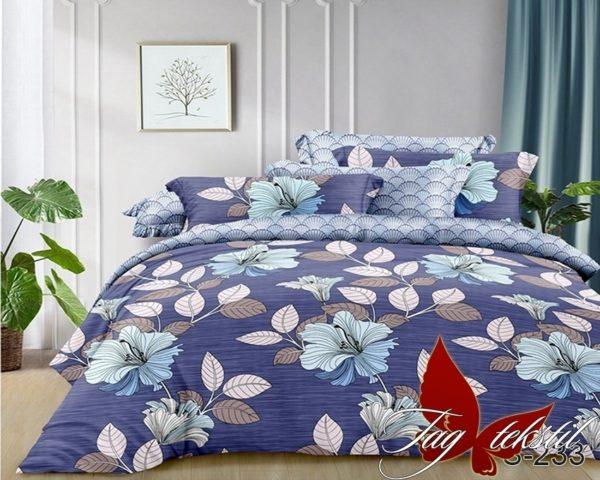 Комплект постельного белья с компаньоном S233  ПОСТЕЛЬНОЕ БЕЛЬЕ ТМ TAG > Семейные > Сатин люкс ТМ TAG