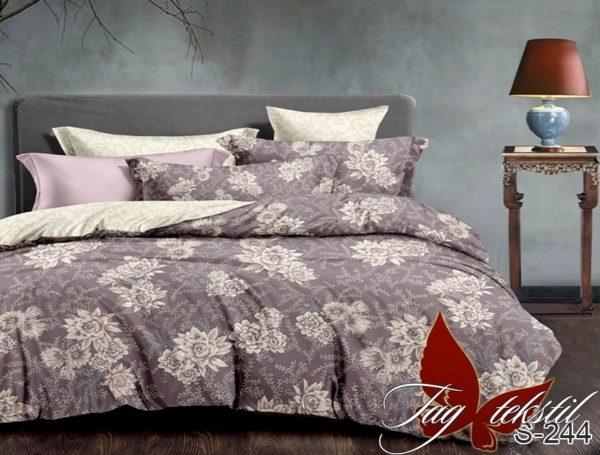 Комплект постельного белья с компаньоном S244  ПОСТЕЛЬНОЕ БЕЛЬЕ ТМ TAG > Евро > Сатин люкс ТМ TAG