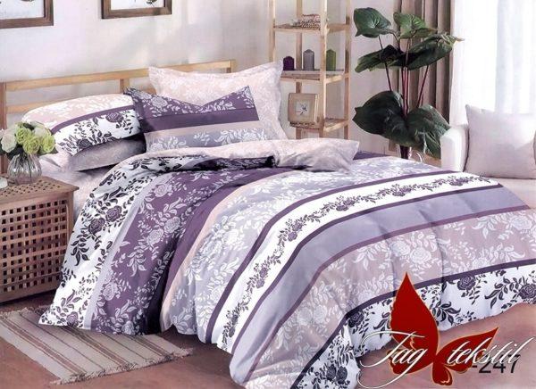 Комплект постельного белья с компаньоном S247  ПОСТЕЛЬНОЕ БЕЛЬЕ ТМ TAG > 1.5-спальные > Сатин люкс ТМ TAG