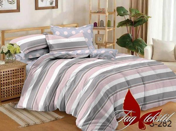 Комплект постельного белья с компаньоном S282  ПОСТЕЛЬНОЕ БЕЛЬЕ ТМ TAG > 1.5-спальные > Сатин люкс ТМ TAG
