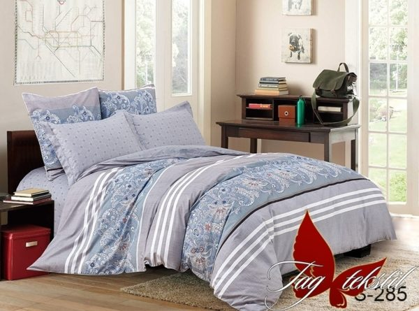 Комплект постельного белья с компаньоном S285  ПОСТЕЛЬНОЕ БЕЛЬЕ ТМ TAG > Евро > Сатин люкс ТМ TAG