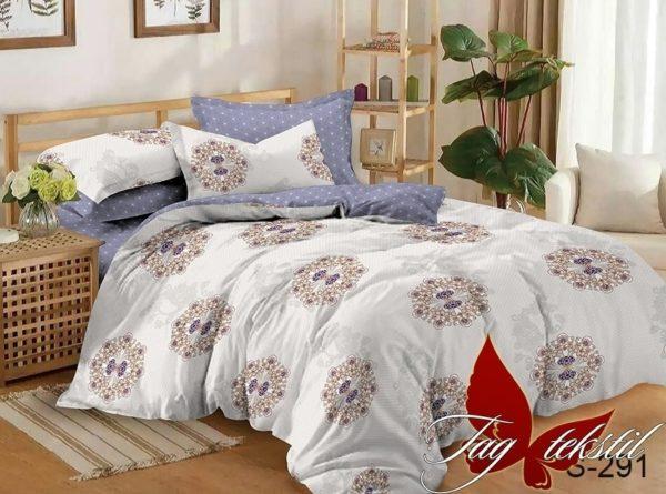 Комплект постельного белья с компаньоном S291  ПОСТЕЛЬНОЕ БЕЛЬЕ ТМ TAG > Семейные > Сатин люкс ТМ TAG